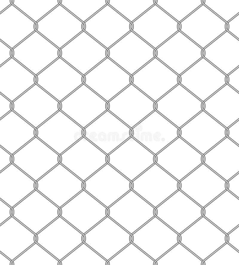 Цепная загородка. Безшовная картина иллюстрация вектора