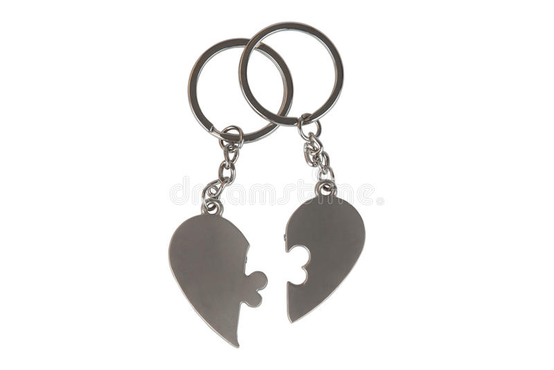 цепная форма ключа сердца подарка стоковые фото