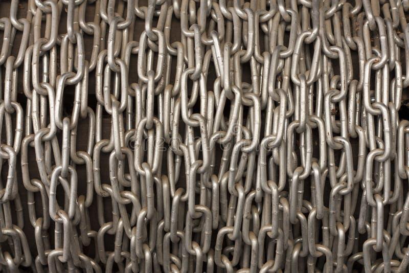 Цепное фото текстуры предпосылки металла кучи стоковое фото rf