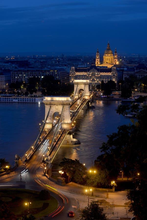 Цепной мост - Будапешт стоковая фотография