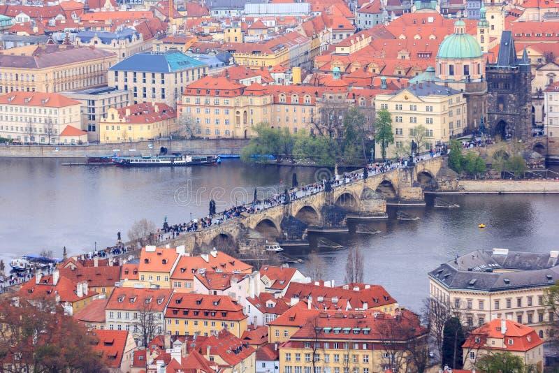 Цепной мост, городской пейзаж Праги, Прага стоковая фотография