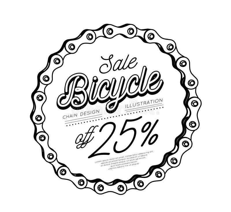 Цепь велосипеда в форме круга конструкция 3D Скидка продажи бесплатная иллюстрация