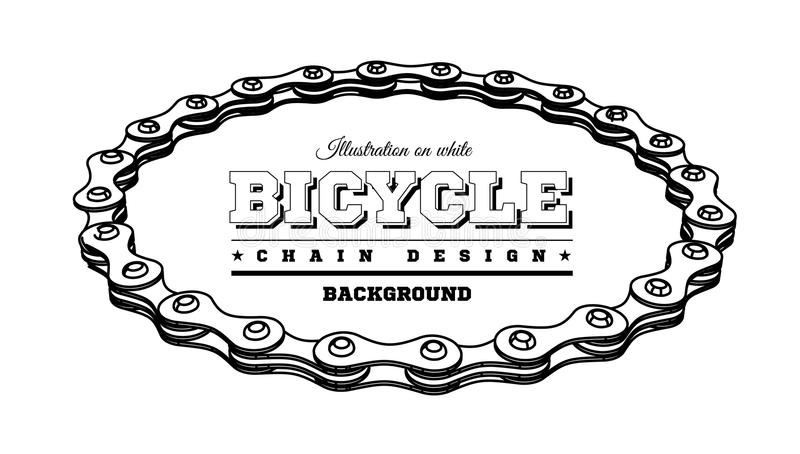 Цепь велосипеда в форме круга конструкция 3D бесплатная иллюстрация