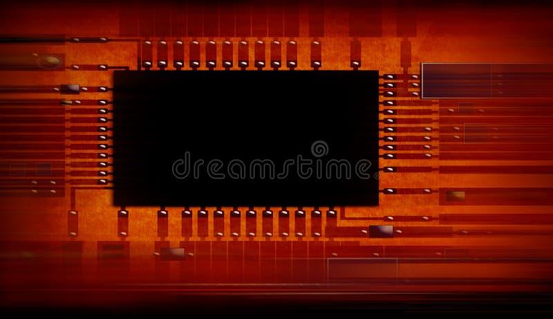 цепь доски электронная стоковое фото