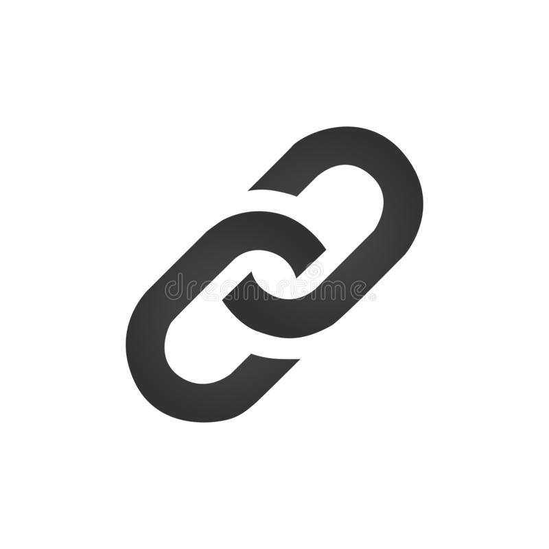 Цепь, иллюстрация вектора значка связи плоская изолированная на белой предпосылке бесплатная иллюстрация