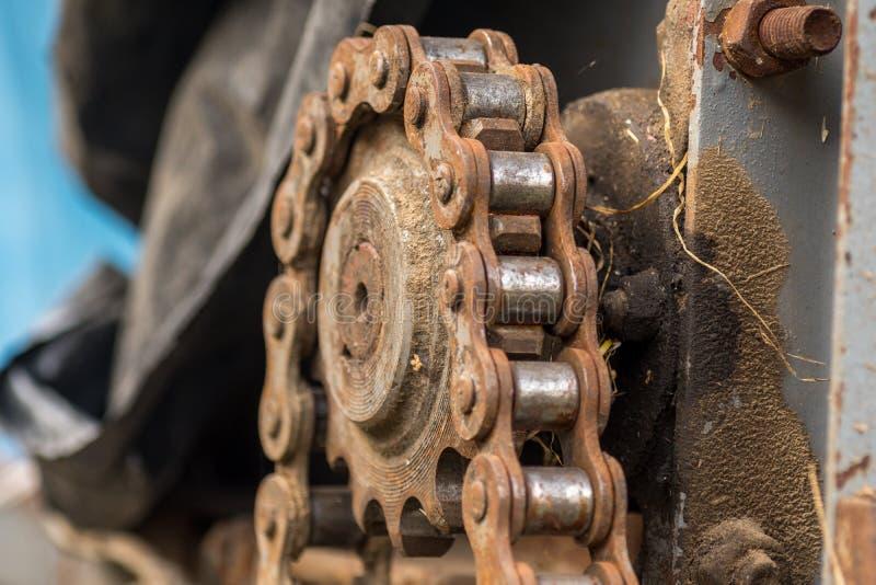 Цепь на cogwheel стоковые изображения