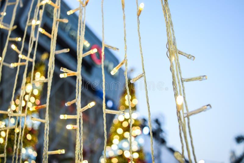 Цепь световых маяков рождества стоковые изображения