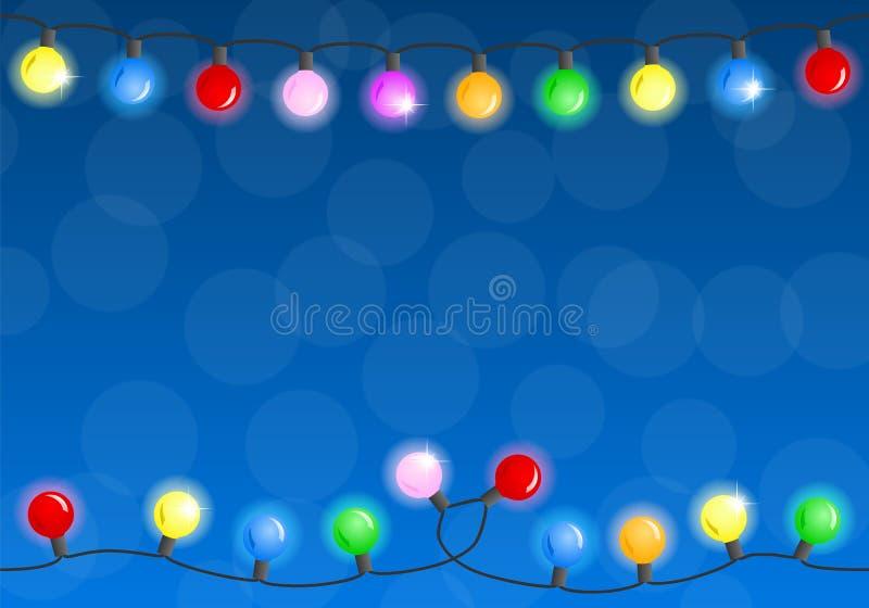 Цепь светов рождества иллюстрация штока
