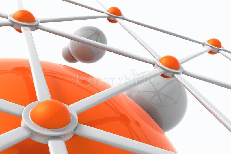 цепь соединений иллюстрация штока
