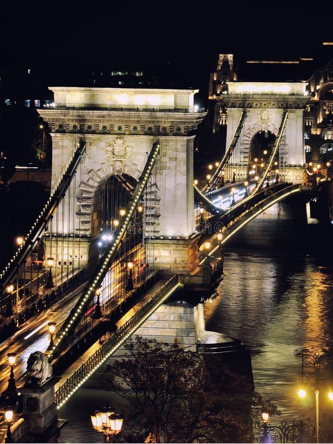 Download цепь budapest моста стоковое изображение. изображение насчитывающей венгрия - 40577873