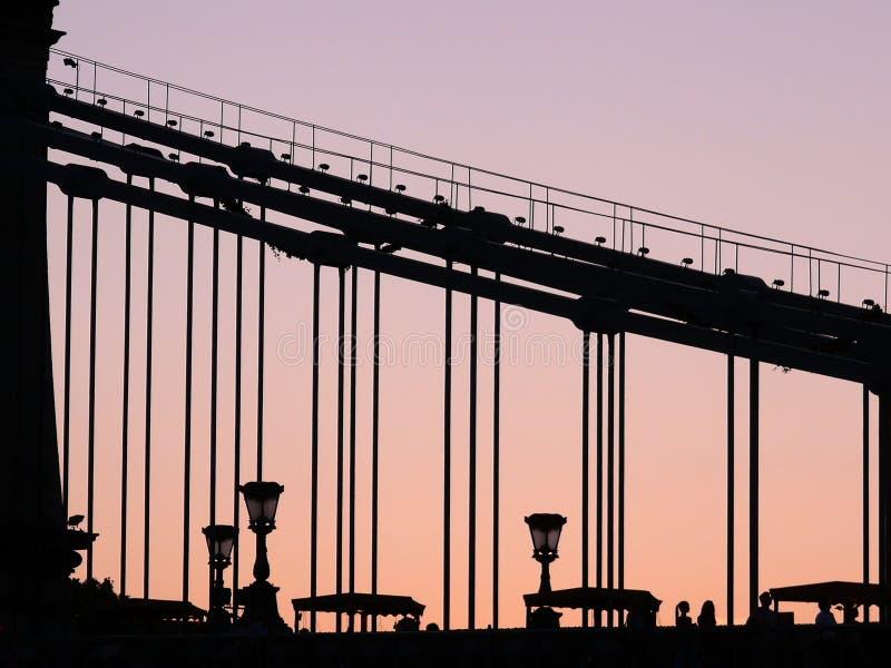 цепь budapest моста стоковое изображение rf