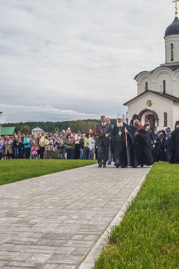 Церемонии открытия в честь годовщины th 536 высвобождения России от Монгол-татарского хомута в зоне Kaluga стоковые изображения rf
