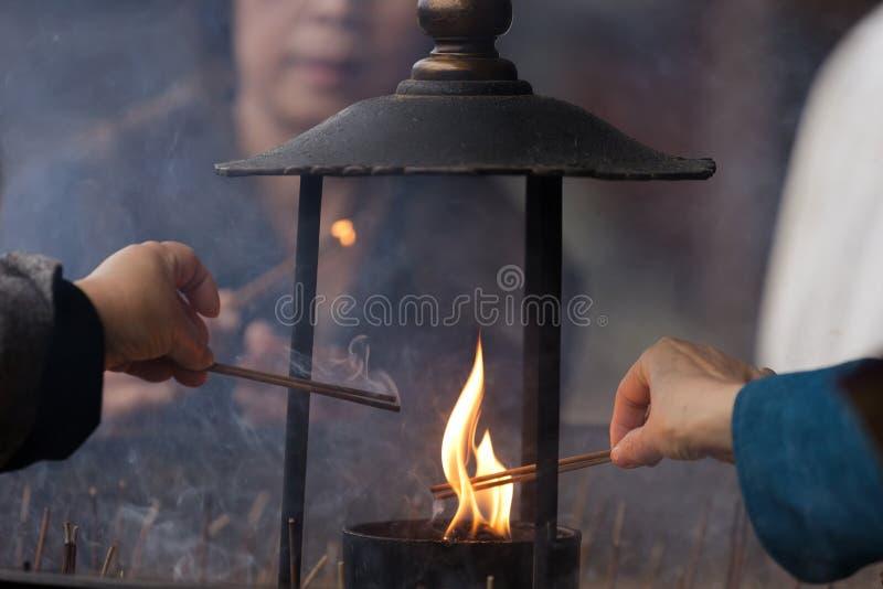 церемония будизма стоковое фото rf