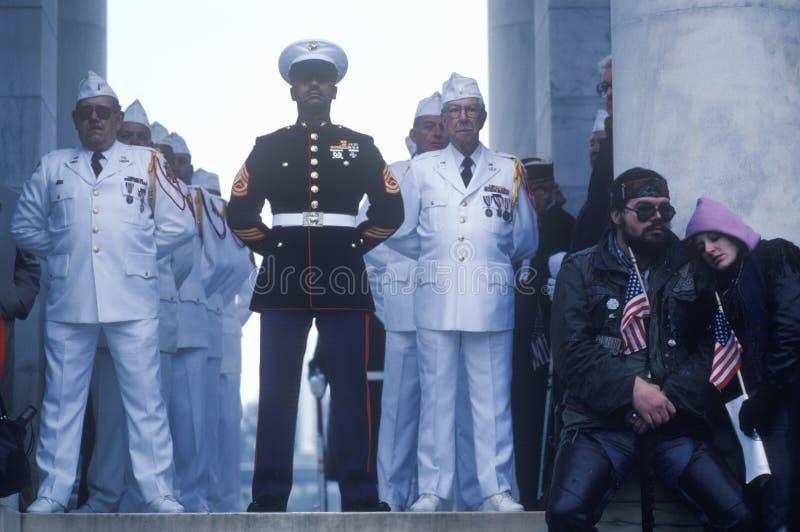 Церемония дня ветерана стоковое изображение
