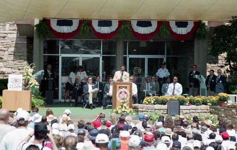 Церемония индукции NFL, кантон, Огайо стоковые изображения rf