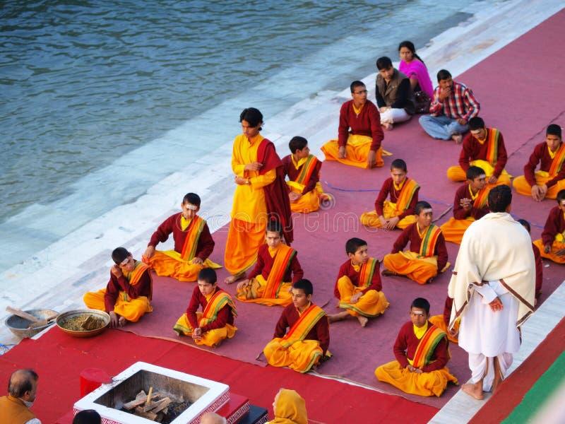 церемония индусская стоковое изображение