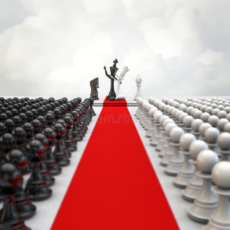 Церемония шахмат свадьбы стоковые изображения rf