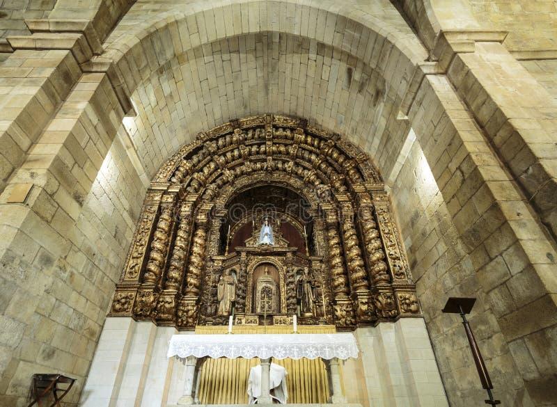 Церковь †Santa Maria de Aguiar «Cistercian стоковое изображение rf