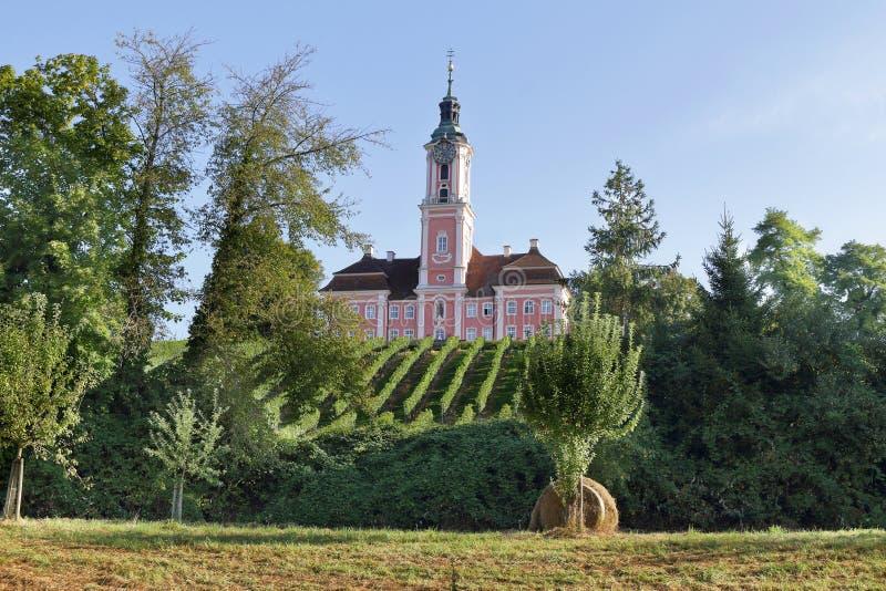Церковь аббатства Birnau в Германии стоковые изображения