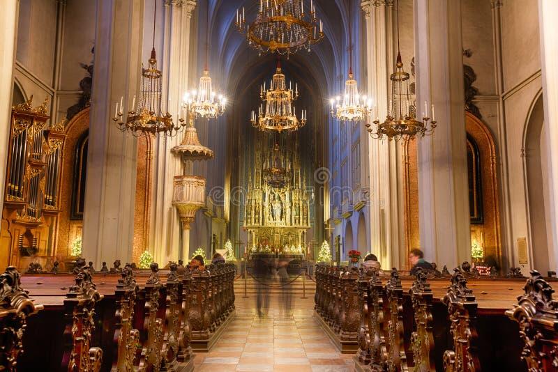 Церковь Августина Блаженного в вене стоковое изображение