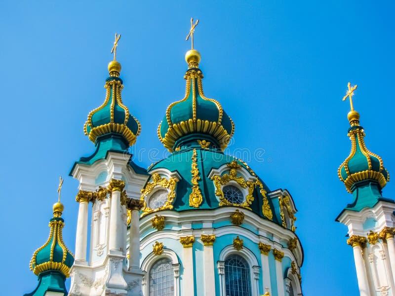 Церковь Андрея Первозванного в Киеве, Украине стоковое фото rf