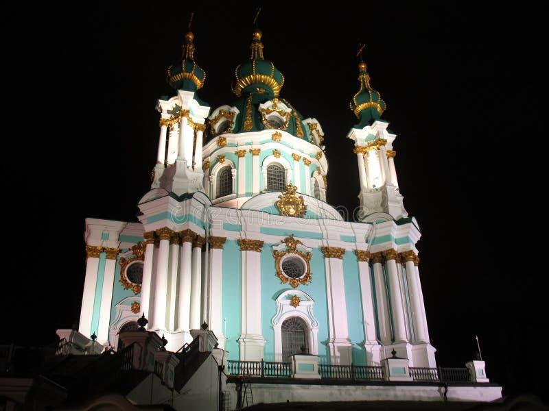 Церковь Андрея Первозванного в Киеве, Украине стоковое изображение