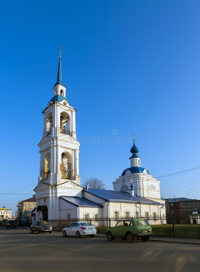 Церковь аннунциации в Kineshma, России стоковое изображение rf