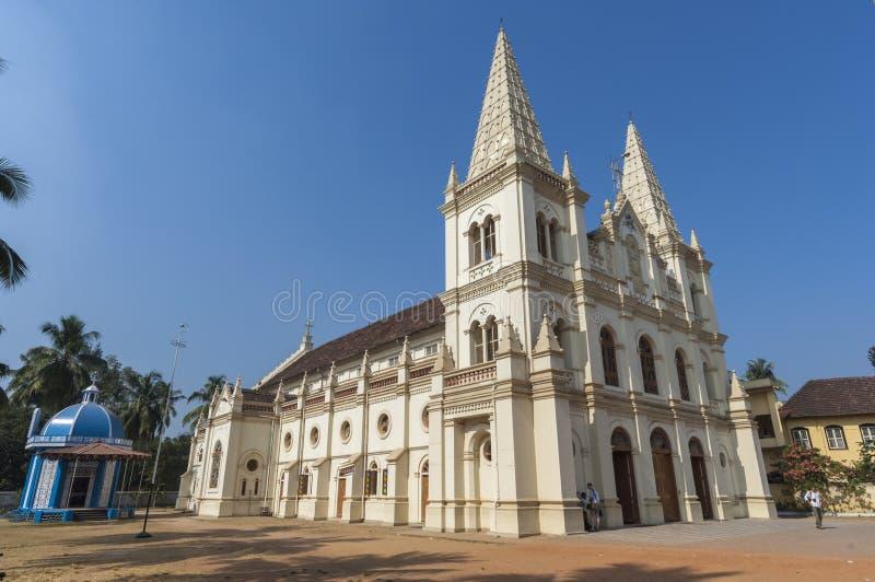 Церковь базилики собора Santa Cruz в Cochin стоковые фотографии rf
