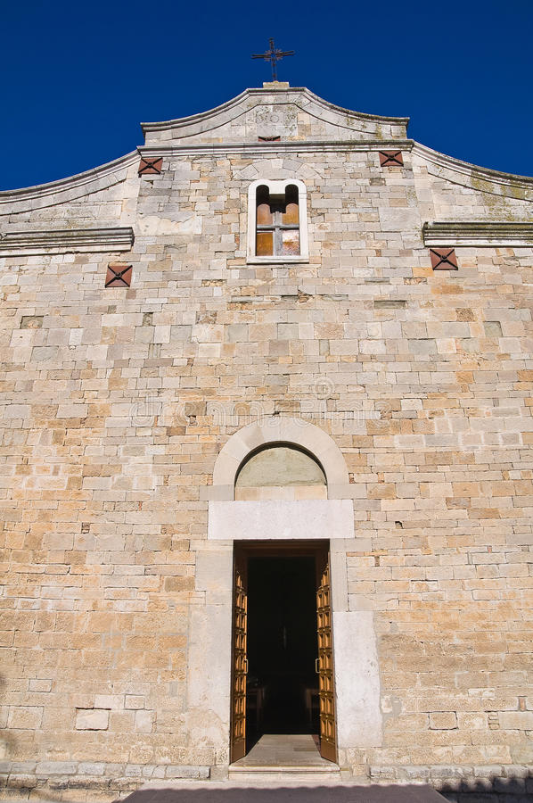 Церковь базилики St. Basilio. Troia. Апулия. Италия. стоковые изображения