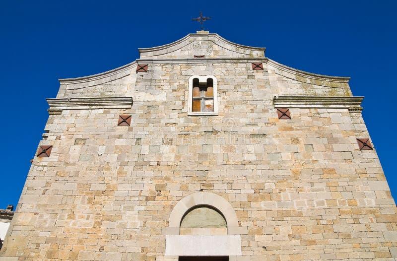 Церковь базилики St. Basilio. Troia. Апулия. Италия. стоковые фото