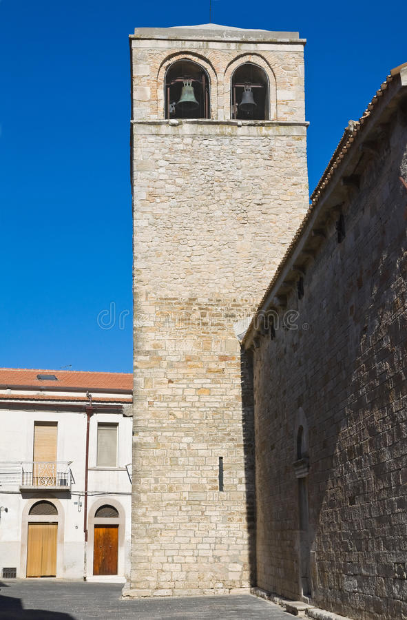 Церковь базилики St. Basilio. Troia. Апулия. Италия. стоковое изображение
