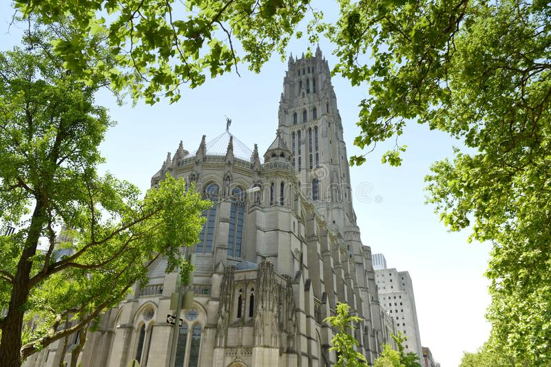 Церковь берега реки в Нью-Йорке, США стоковые фото