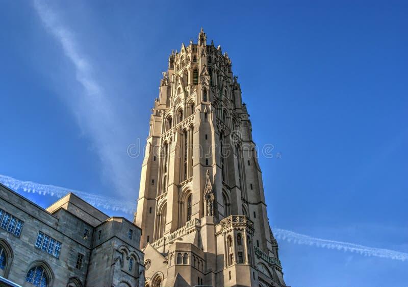 Церковь берега реки в Нью-Йорке стоковое изображение rf