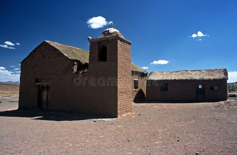 церковь Боливии altiplano стоковые изображения rf