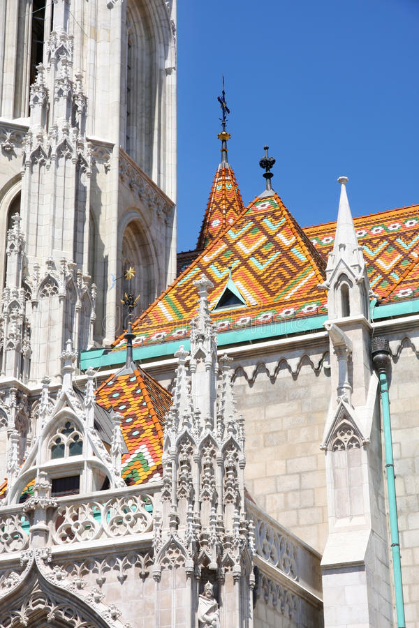 церковь Венгрия matthias budapest стоковое изображение rf