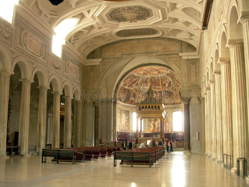 церковь внутрь стоковое фото rf