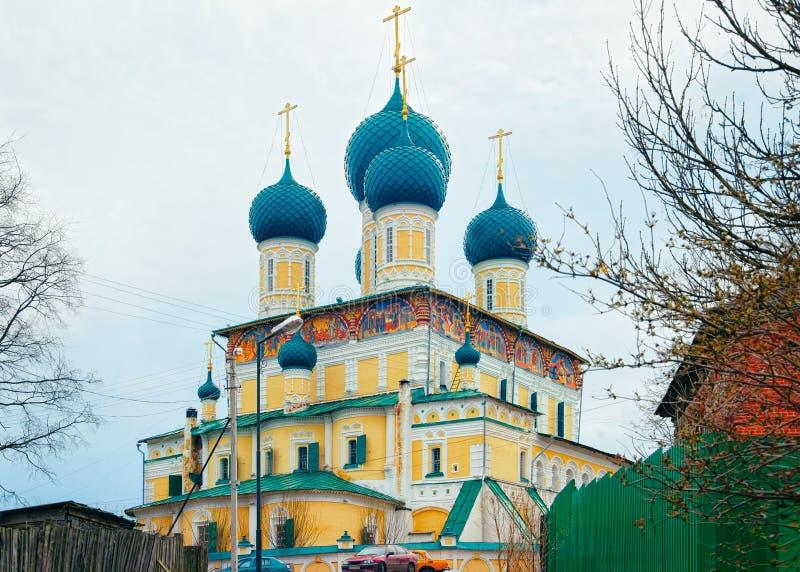 Церковь воскресения в регионе Uglich Yaroslavl в России стоковая фотография