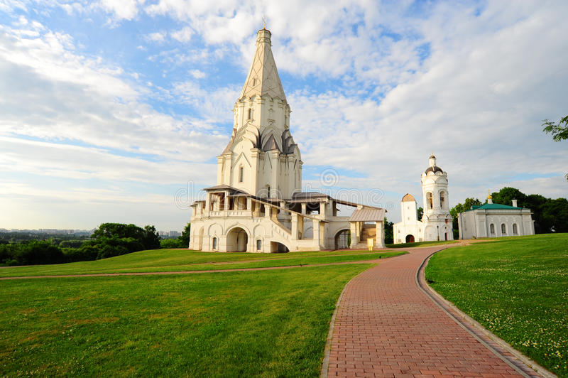 церковь восхождения стоковые изображения rf
