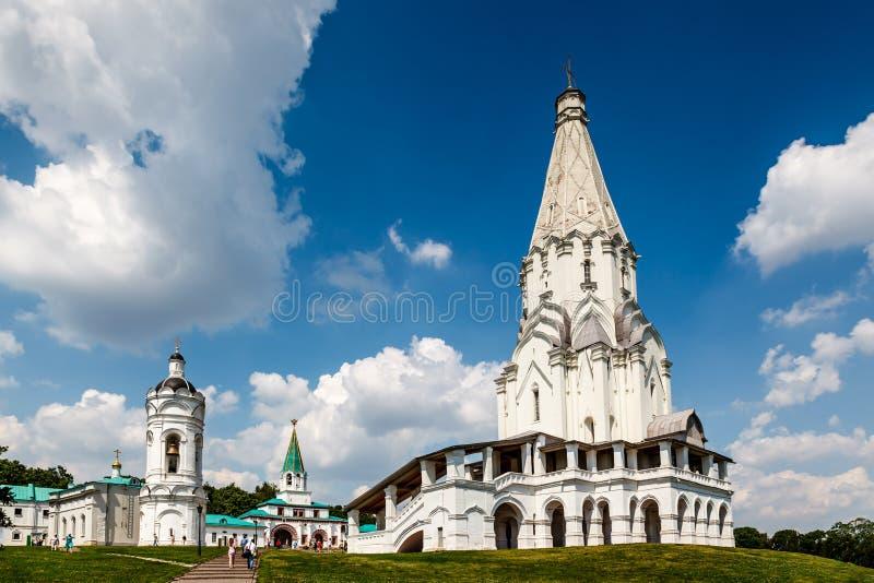 Церковь восхождения в Kolomenskoye, Москве стоковая фотография