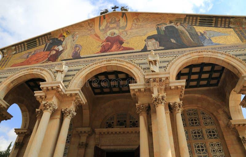 Церковь всех наций (базилика агонии) стоковые изображения