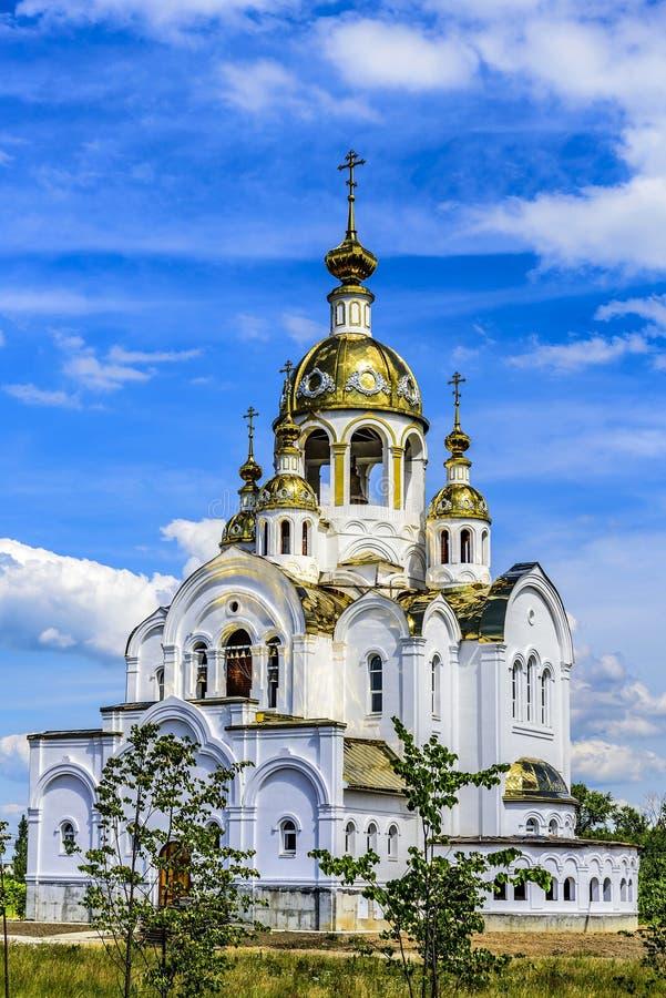Церковь всех Святых в земле России посветила ортодоксальность Город Stupino, область Москвы Россия стоковое фото rf