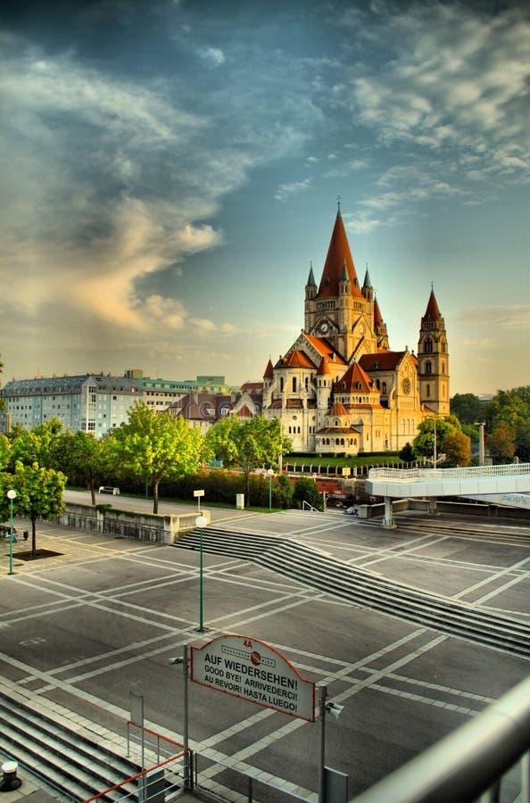 Церковь в Вене стоковая фотография