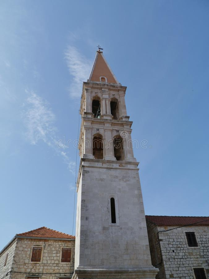 Церковь в выпускнике Stari в Хорватии стоковые изображения