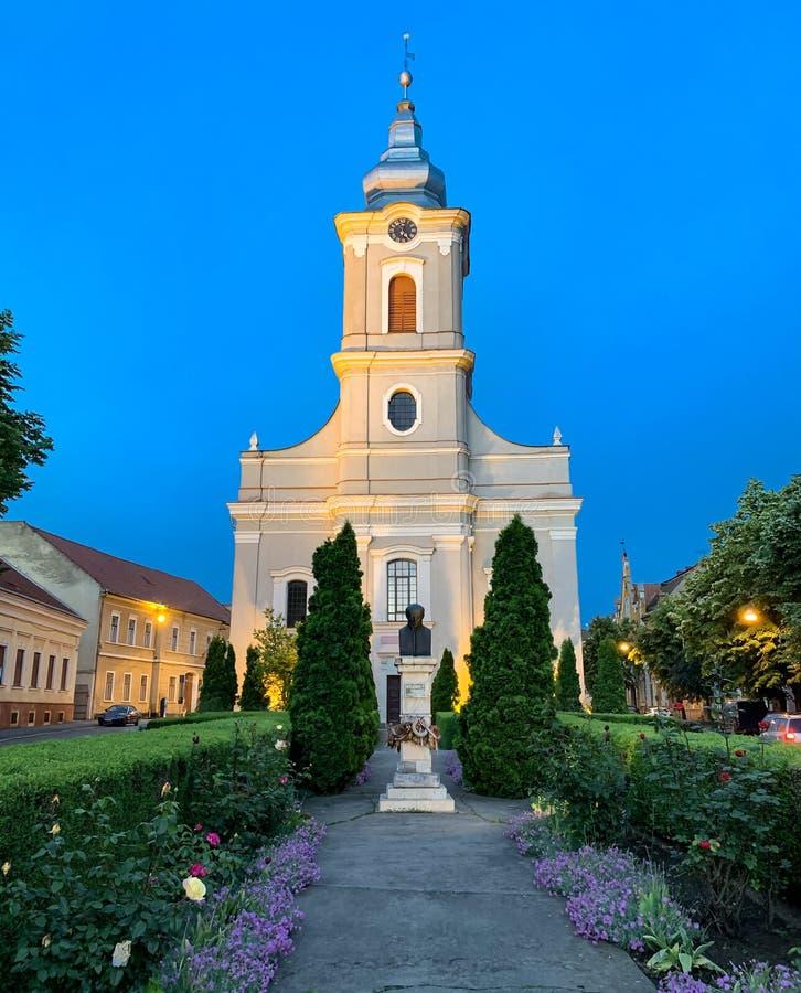 Церковь в городе конематки Satu - Румынии стоковая фотография