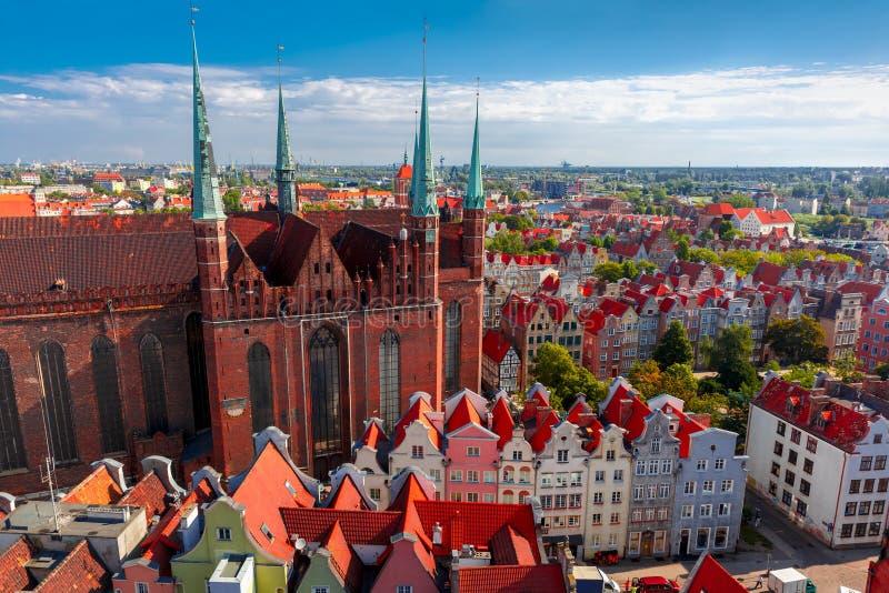 Церковь в Гданьске, Польша St Mary стоковое изображение