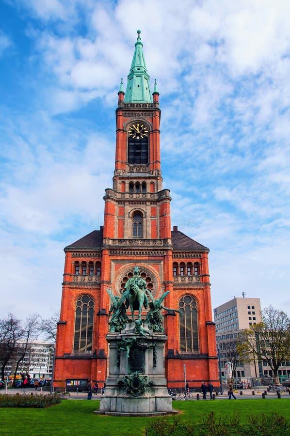 Церковь в Дюссельдорфе, Германия St. John стоковые изображения