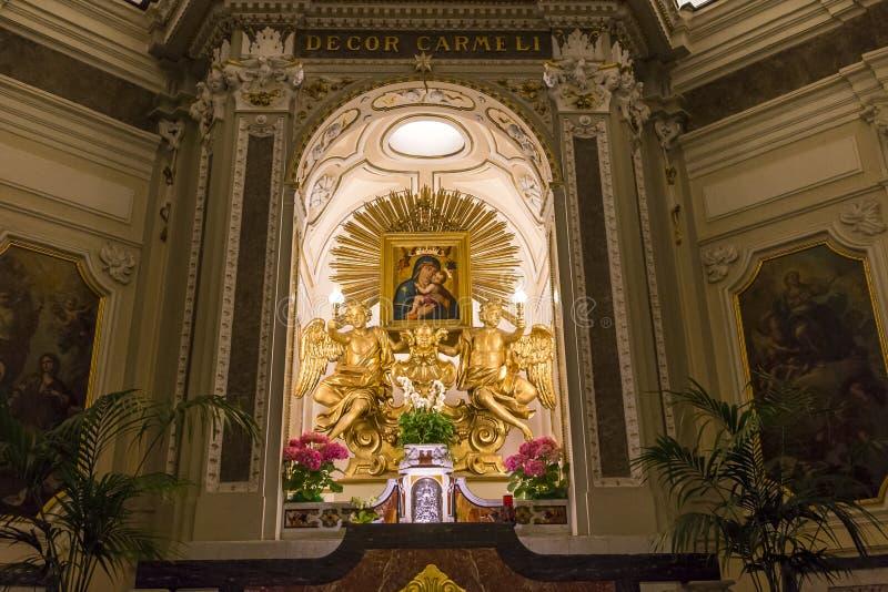 Download Церковь в кампании Сорренто, Италия Madonna Del Кармина Стоковое Фото - изображение насчитывающей вероисповедно, италия: 41655368