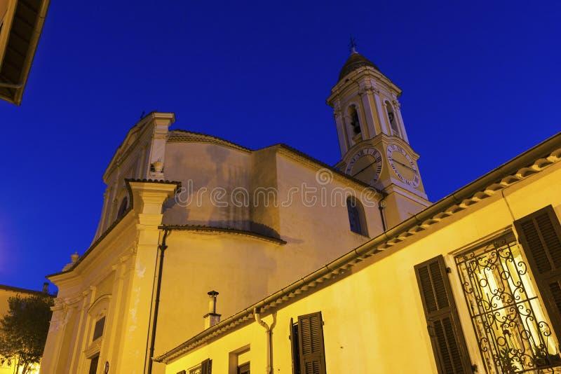 Церковь в Ла Turbie в Франции стоковое изображение rf
