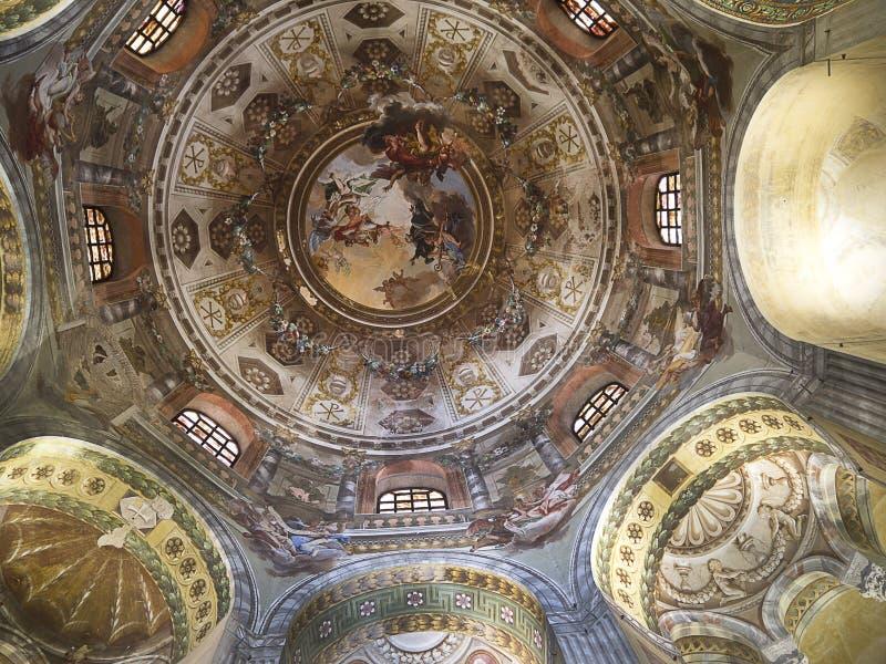 Церковь в Равенне Италии стоковое изображение