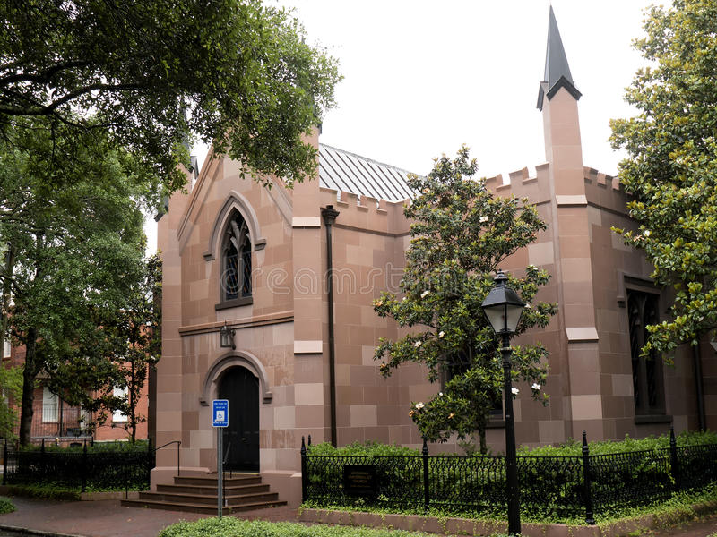 Церковь в саванне в Georgia США стоковое изображение rf